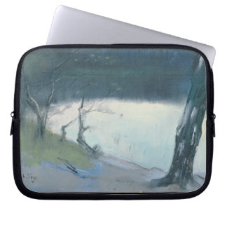 Landscape (pastel on canvas) laptop sleeve