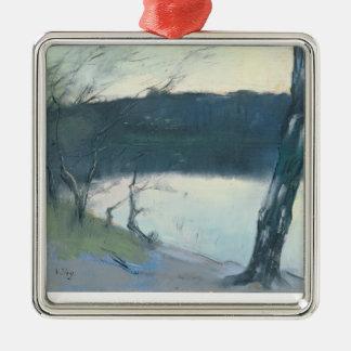 Landscape (pastel on canvas) metal ornament