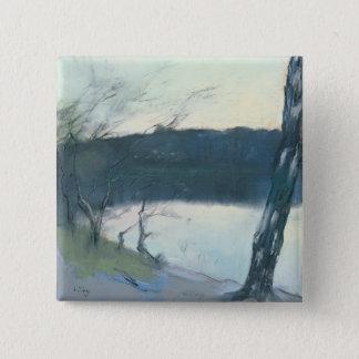 Landscape (pastel on canvas) pinback button