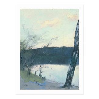 Landscape (pastel on canvas) postcard