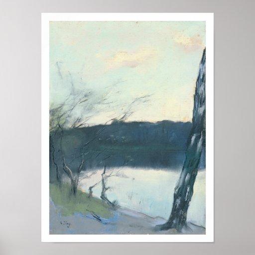 Landscape (pastel on canvas) posters
