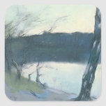 Landscape (pastel on canvas) square sticker