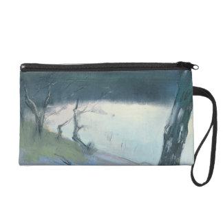 Landscape (pastel on canvas) wristlet