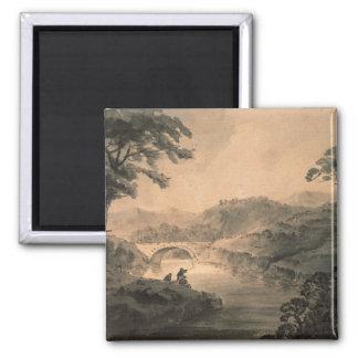 Landscape (pen & ink wash) magnet