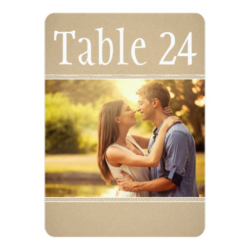 Landscape Photo Table Number Cards | Kraft Paper Invitations