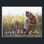 """Landscape Photo Wedding Save The Date Postcard<br><div class=""""desc"""">Send our horizontal picture save the date postcards to let your guests know to block off your wedding date. Tip: if you need to change the wording that is in the rustic script font, you can go to the """"Personalize This Template"""" section then click the """"Click to Customize Further"""" at...</div>"""