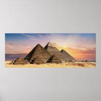 Landscape Photography: Giza Pyramid Complex Egypt Poster