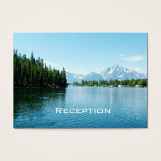landscape photography wedding reception cards. business card