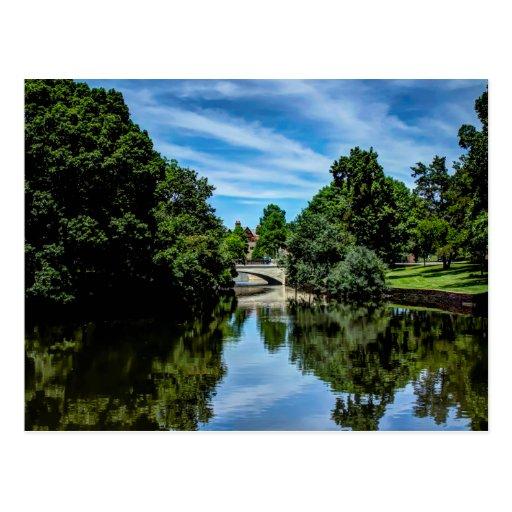 Landscape picture of Turtle Creek in Dallas Postcard