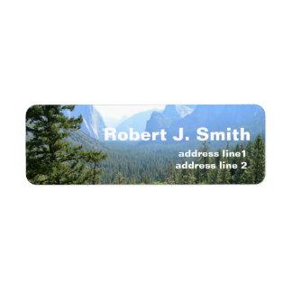 Landscape picture personal address labels. label