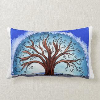 Landscape pillow, Spiral Tree Throw Pillow