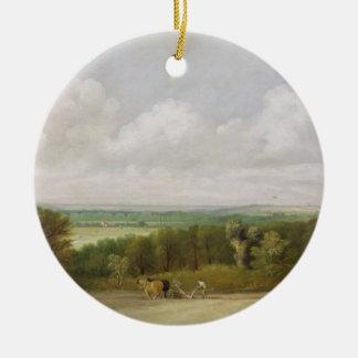 Landscape: Ploughing Scene in Suffolk (A Summerlan Ceramic Ornament