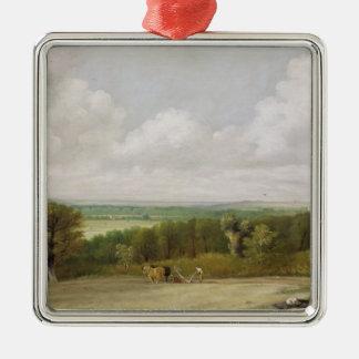 Landscape: Ploughing Scene in Suffolk (A Summerlan Metal Ornament