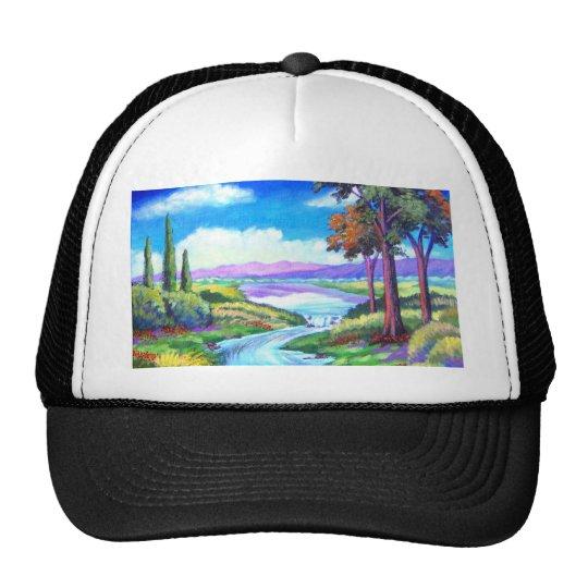 Landscape River Painting Art - Multi Trucker Hat