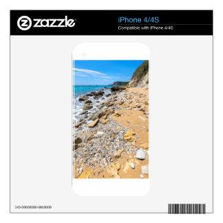 Landscape rocky coast Kefalonia Greece Skin For The iPhone 4