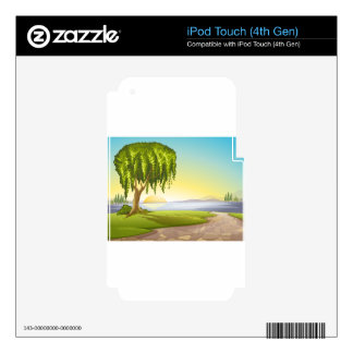 landscape iPod touch 4G skin