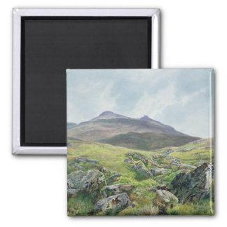 Landscape, Snowdon 2 Inch Square Magnet