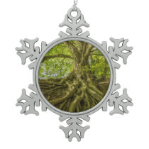 Landscape Snowflake Pewter Christmas Ornament