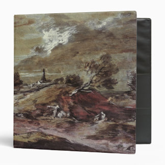 Landscape: Storm Effect, 18th century 3 Ring Binder