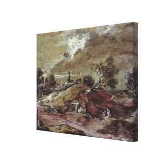 Landscape: Storm Effect, 18th century Stretched Canvas Print