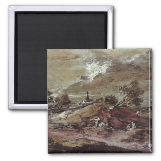 Landscape: Storm Effect, 18th century Refrigerator Magnets