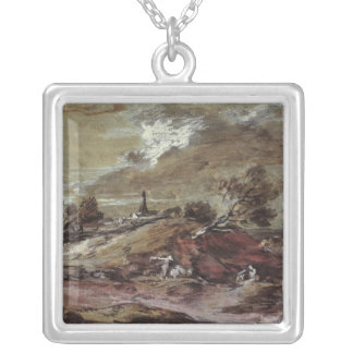 Landscape: Storm Effect, 18th century Personalized Necklace