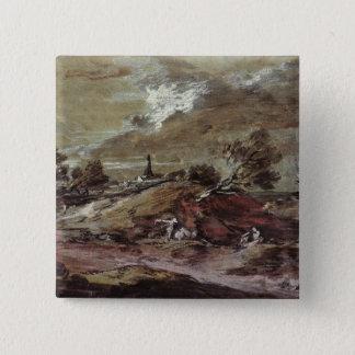 Landscape: Storm Effect, 18th century Pinback Button