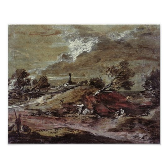 Landscape: Storm Effect, 18th century Poster