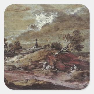 Landscape: Storm Effect, 18th century Sticker