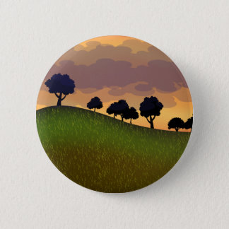 Landscape summer pinback button