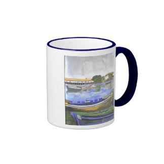 Landscape the aguarela, Barreiro, Portugal Ringer Coffee Mug