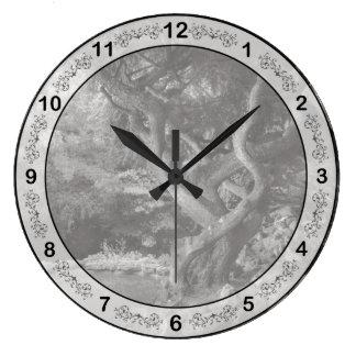 Landscape - The Forbidden Forest Large Clock