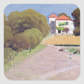 Landscape, The House with the Red Roof, 1924 Square Sticker