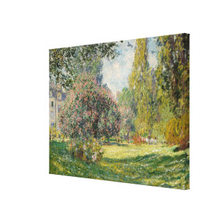Landscape: The Parc Monceau Canvas Print