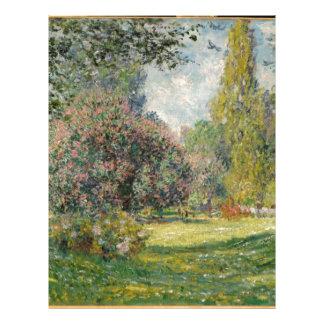 Landscape- The Parc Monceau - Claude Monet Letterhead