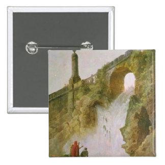 Landscape, The Waterfall Pinback Button