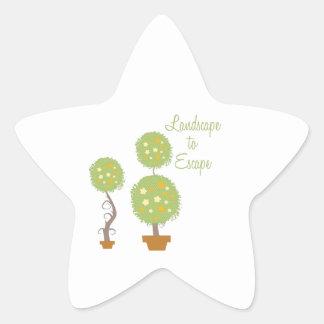 Landscape To Escape Star Sticker