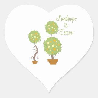 Landscape To Escape Heart Sticker
