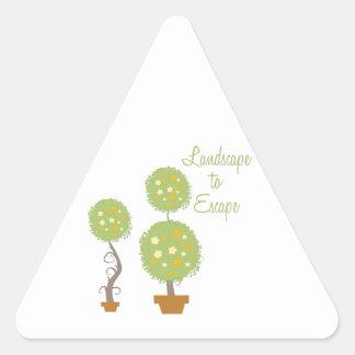 Landscape To Escape Triangle Sticker