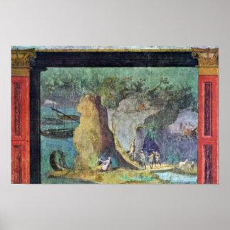 Landscape To The Odyssey By Römischer Meister Um 1 Poster