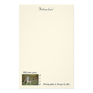 Landscape Tree Old Roots Grow Deep Stationery