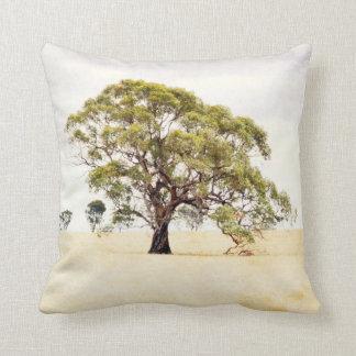 Landscape Tree Pillow, Rural Australian Scene Throw Pillow