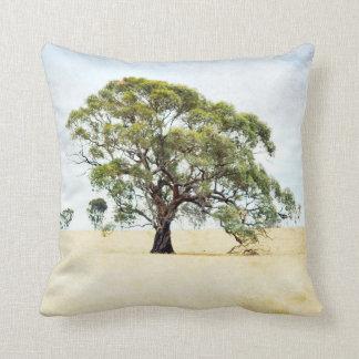 Landscape Tree Pillow, Rural Scene Throw Pillow