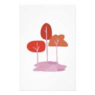 Landscape Trees Stationery Paper