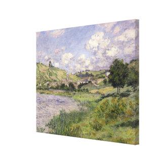 Landscape, Vetheuil, 1879 Stretched Canvas Print