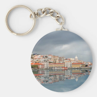 Landscape view of buildings in Lisbon, Portugal Keychain