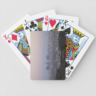 Landscape view of skyscrapers, Los Angeles Bicycle Playing Cards