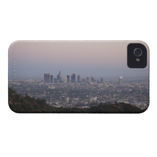 Landscape view of skyscrapers, Los Angeles iPhone 4 Cover