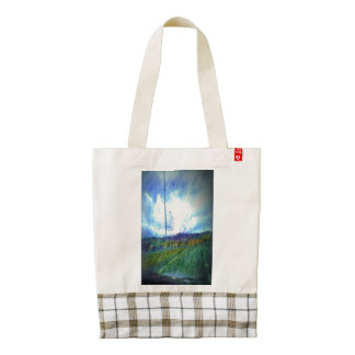 Landscape view zazzle HEART tote bag