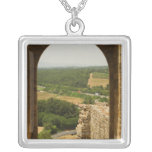 Landscape viewed through an archway, Porta Personalized Necklace